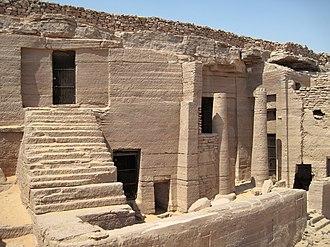 Heqaib - Entrance of the tomb of Heqaib at Qubbet el-Hawa.