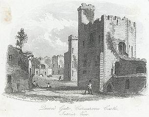 Queen's Gate, Carnarvon Castle, Interior View