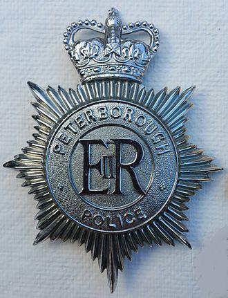 Peterborough Combined Police - Image: Queens Crown Peterborough Combined Police Badge 1952 1965