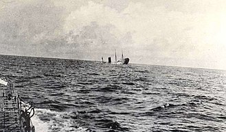 RMS Carpathia - Carpathia sinks after being struck by three torpedoes fired by U-55 west off Land's End