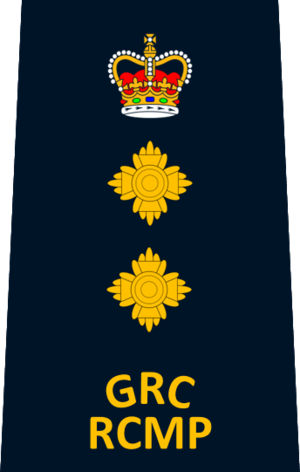 Chief superintendent - Image: RCMP Chief Superintendent