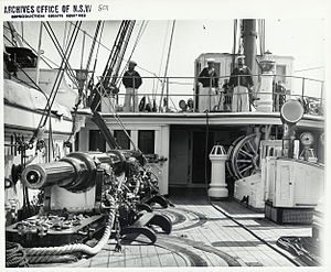 RML guns on British warship in Sydney Flickr 4312110589.jpg