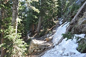 Lake Haiyaha Trail - Image: RMNP Lake Haiyaha Trail