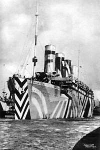 RMS Olympic in WWI dazzle paint