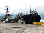 ROCN Kao Hsiung (LCC-1) Shipped in No.1 Pier of Zhongzheng Naval Base Left Front View 20130504.jpg