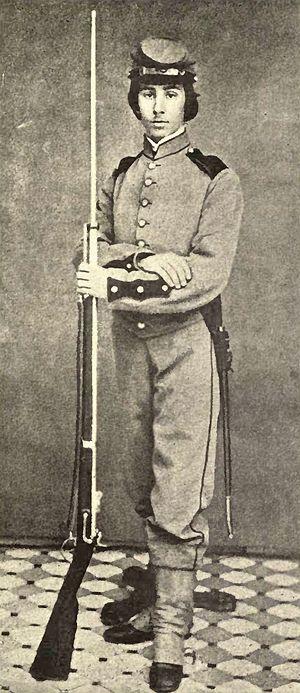 Richard Watson Gilder - Gilder as a soldier in the American Civil War