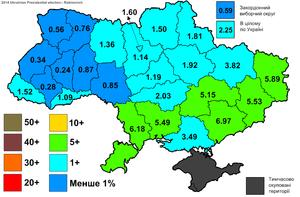 Vadim Rabinovich - Support for Rabinovich in the 2014 Ukrainian presidential election