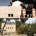 Rachel's tomb in 1978 and 2018.jpg