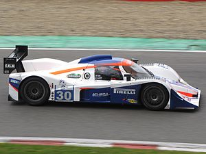Andrea Piccini - Piccini driving a Lola B08/80-Judd at the 2010 1000 km of Spa.