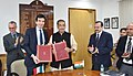 Radha Mohan Singh and the Italian Minister for Agriculture, Food and Forestry Policies, Mr. Maurizio Martina signed an MoU between India and Italy on cooperation in Agriculture and Phytosanitary issues, in New Delhi.jpg