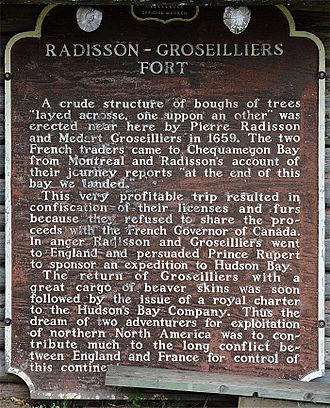 Médard des Groseilliers - Historic marker in Ashland, Wisconsin
