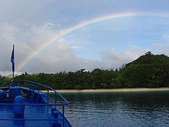 Tulagi - October 2007 rainbow over Tulagi Island