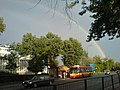 Rainbow over Zieleniecka street Warsaw June 2009 - panoramio (1).jpg