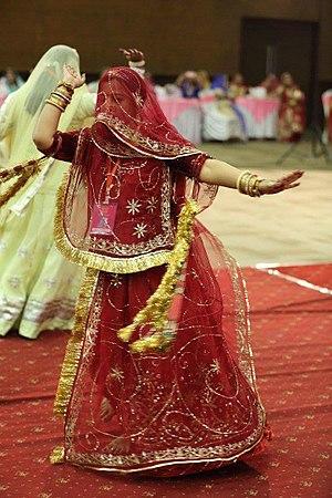 Ghoomar - A Rajput woman performing Ghoomar.