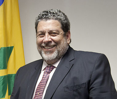 Current Prime Minister of St. Vincent and the Grenadines since 2001 Ralph Gonsalves Ralph Gonsalves (cropped).jpg