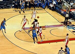 2009–10 Toronto Raptors season - The starting line-up for most of the 2009–10 season: Bargnani (centre), Bosh (power forward), Türkoğlu (small forward), DeRozan (shooting guard) and Calderón (point guard)