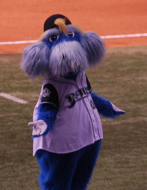 Raymond, the mascot for the Tampa Bay Devil Rays