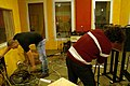 Re-amp setting in progress, Florian and Guy, Marc Morgan album recording, LowSwing studio, Berlin, 2011-01-25 22 31 27.jpg