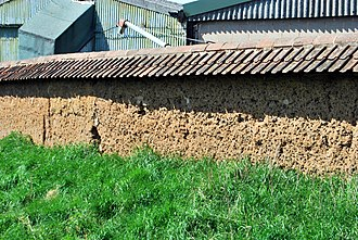 Rearsby - Image: Rearsby Ancient Mud bee wall