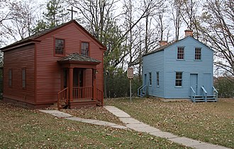 Nashotah House - The oldest buildings on campus: Red Chapel and Blue House