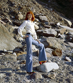 Tall natural redhead Erika on a North Devon be...