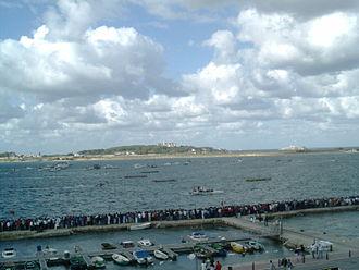 Marina de Cudeyo - Cantabric boats race in Marina de Cudeyo (Santander's Bay).