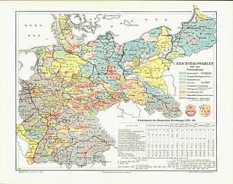 German federal election, 1898 - Image: Reichstagswahlkarte 1898 1903