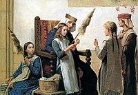 Reine Berthe et les fileueses, 1888.jpg