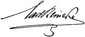 Signatur (Quelle: Wikimedia)
