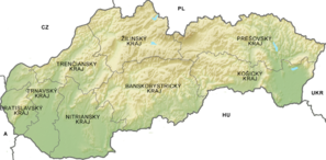 Relief Map of Slovakia Kraje.png