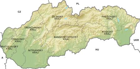 Regiones administrativas de Eslovaquia