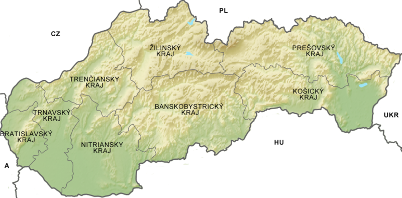 Icono Ubicacion Google Maps Png 3 Png Image: File:Relief Map Of Slovakia Kraje.png