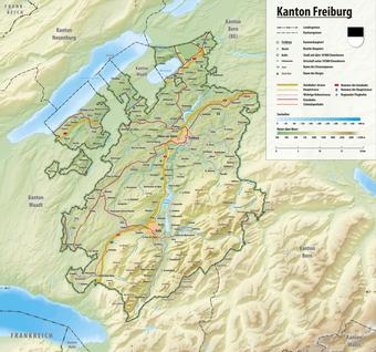 Freiburg Schweiz Karte.Kanton Freiburg Wikipedia