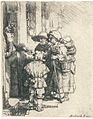 Rembrandt - Beggars Receiving Alms at the Door of a House.jpg