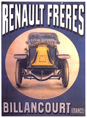 Louis Renault (industrialist) - Advertisement for Renault Frères