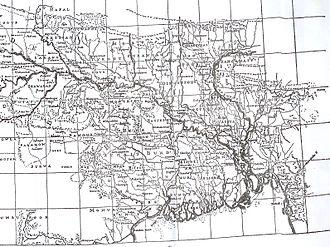 Karatoya River - Rennel's map