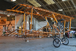 Sopwith Camel - Replica Sopwith Camel showing internal structure