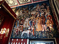Replica of 'The Unicorn is Killed and Brought to the Castle' tapestry, hanging in Mary of Guise's Inner Hall in the Royal Palace at Stirling Castle..JPG