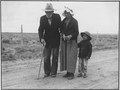 "Resettlement Administration, Rural Rehabilitation, ""Walking 30 miles to visit family in Santa Fe"", Chomita, New Mexico - NARA - 195766.tif"