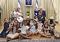 Reuven Rivlin and his wife host the children of the President's Residence who are entering first grade towards the start of the school year, August 2017 (035).jpg