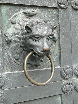 Ribe Cathedral - Doorknocker by Anne Marie Carl-Nielsen