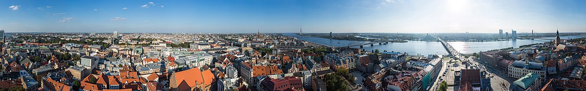 Panorama over Riga from St. Peter's Church