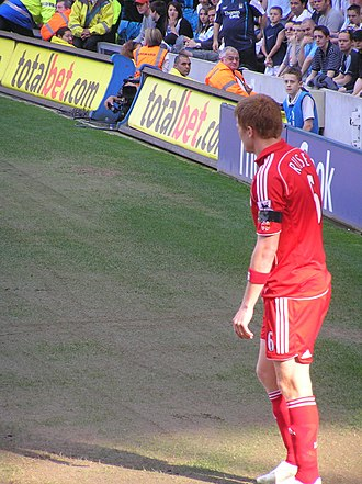 John Arne Riise - Riise playing for Liverpool.