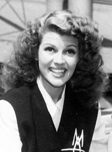 L'actriz estatounitense Rita Hayworth, (1942).