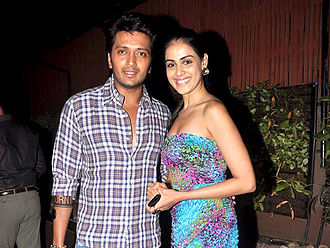 Riteish Deshmukh - Riteish and wife, Genelia