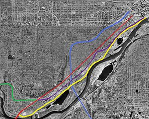 Riverview Corridor - Different possible alignments of the Riverview Corridor