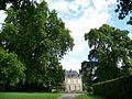Roberval (60), les deux grandes platanes des années 1830 sur la place du château.jpg