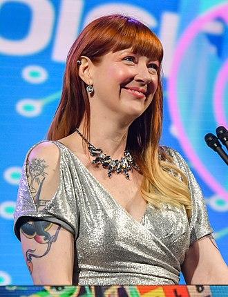 Robin Hunicke - Hunicke hosting the 2018 Game Developers Conference Awards