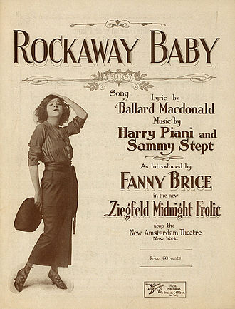 Sam H. Stept - Rockaway Baby sheet music cover with photo of Fanny Brice