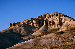 An eroded rock formation near Furnace Creek, Death Valley, Ca.
